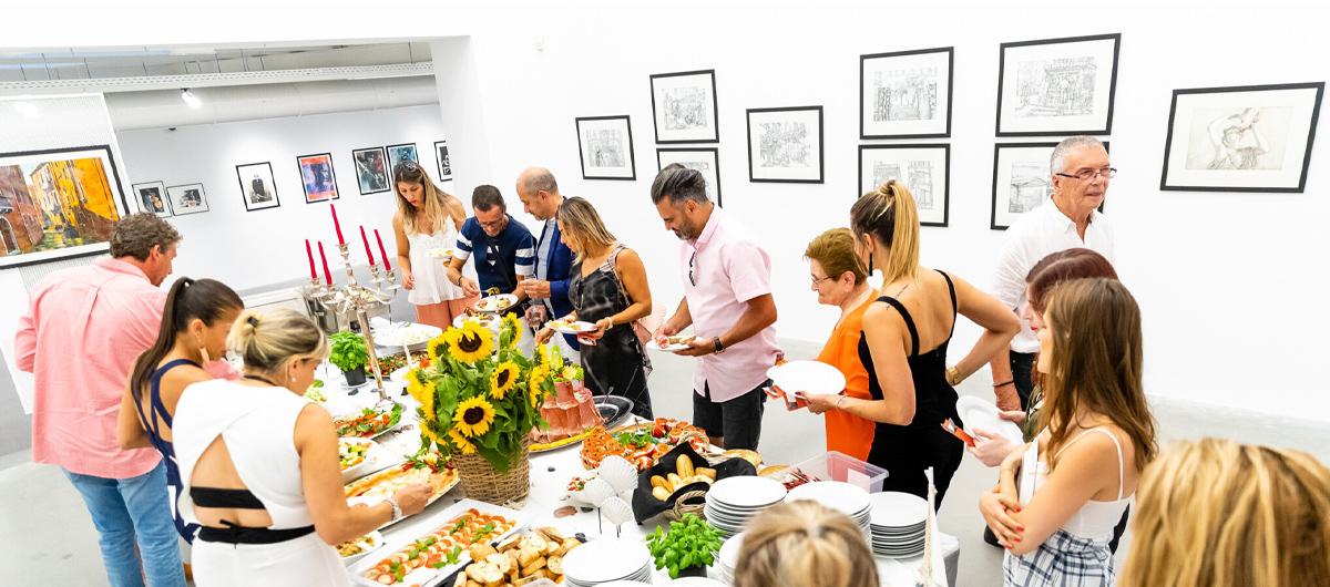 buffet traiteur vernissage exposition